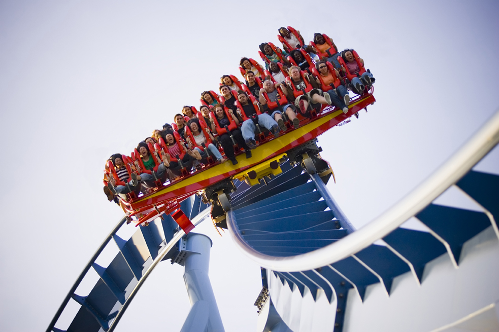 Griffon, the world's tallest, floorless dive coaster is the newest steel marvel to debut at Busch Gardens Europe in Williamsburg, Va. Griffon carries riders 205 feet up, then hurtles them 90 degrees straight down at more than 75 mph before passing through a water brake finale, making the dive coaster fun for onlookers as well as riders. Griffon debuts to the general public on Friday, May 25, 2007. ©2007 Busch Entertainment Corp.