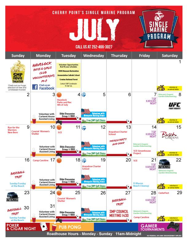 SMP Calendar July 2017