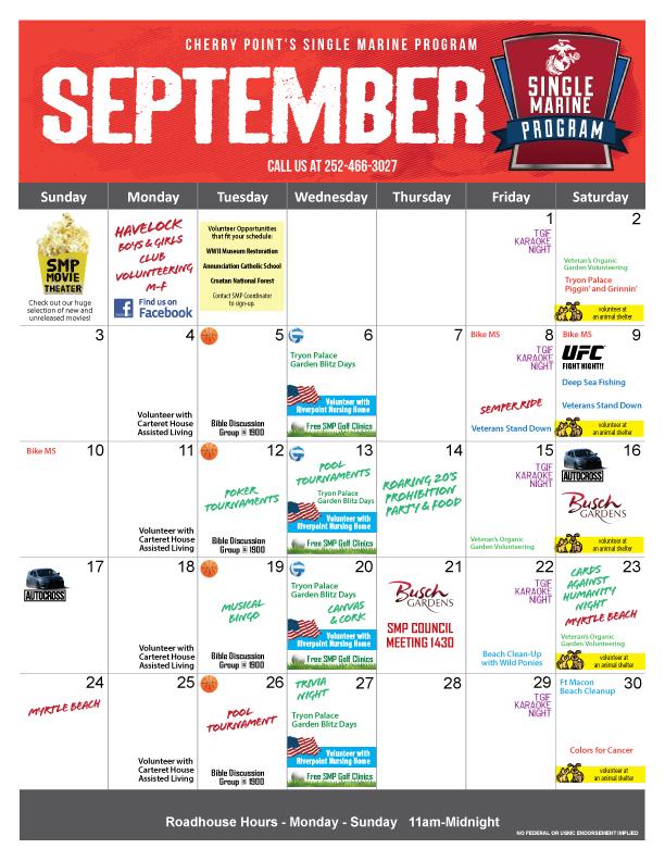 SMP September Calendar