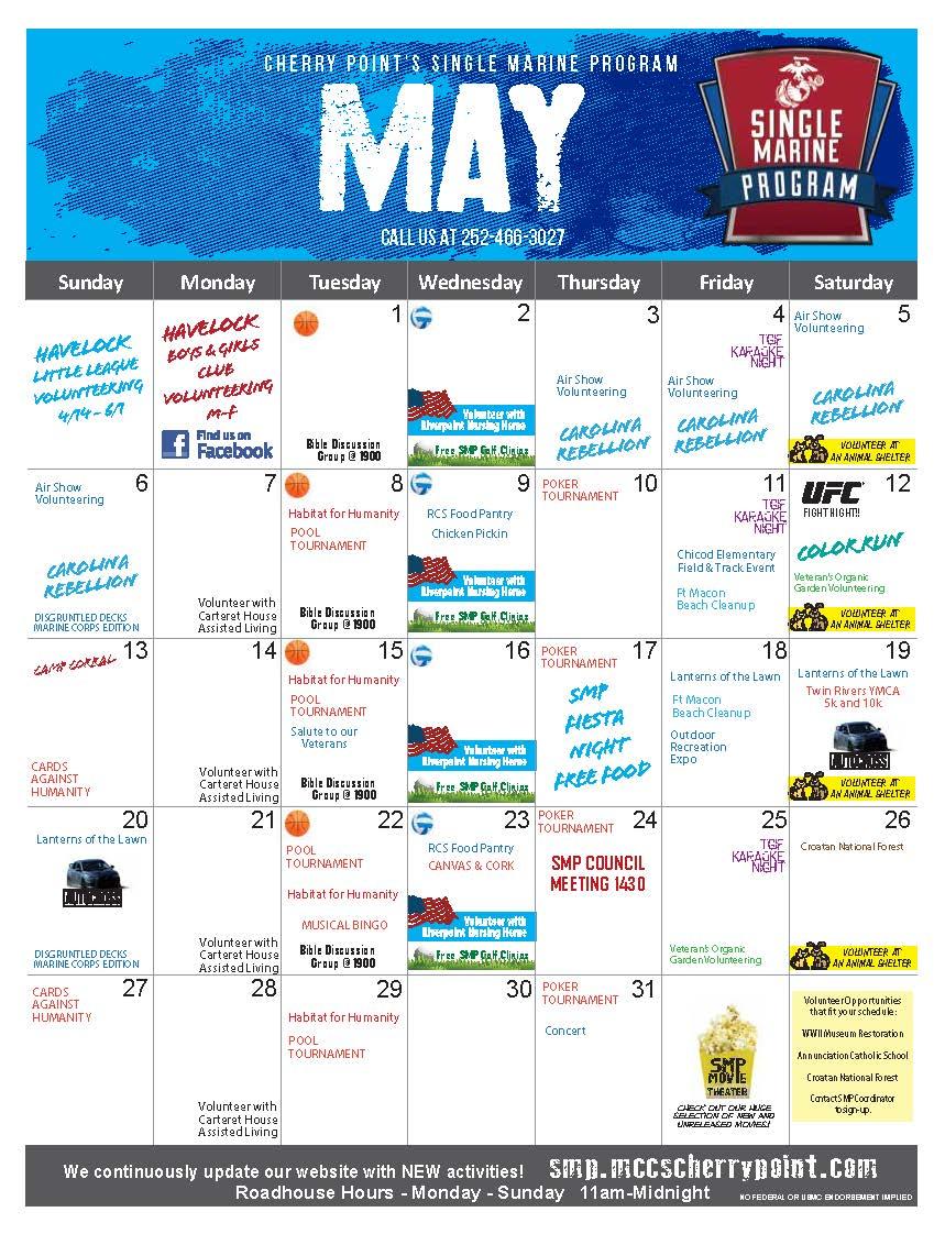 SMP May Calendar