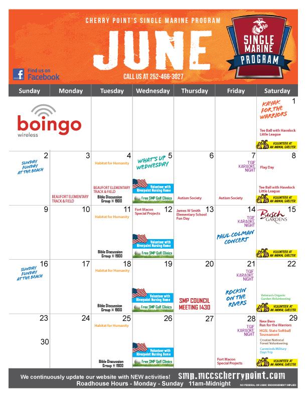 SMP Calendar June 2019